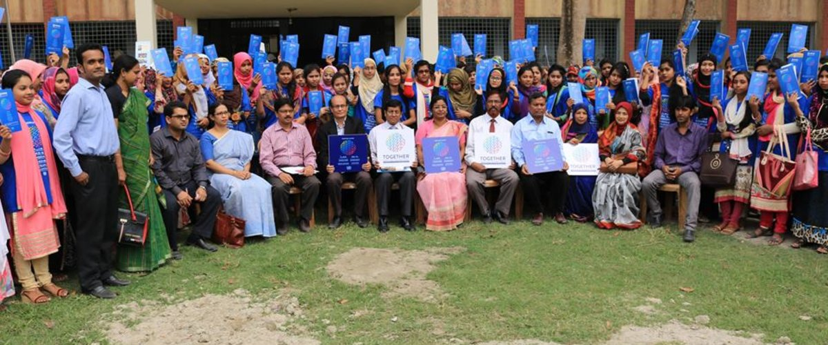 Group Photo in Manikgonj Government Girls College