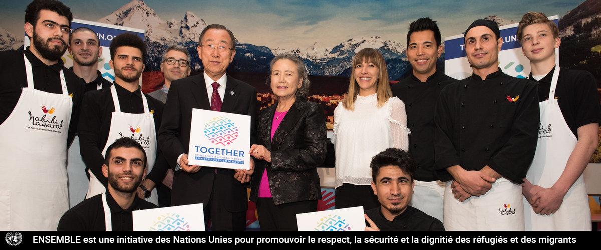 ENSEMBLE est une initiative des Nations Unies pour promouvoir le respect, la sécurité et la dignitié des réfugiés et des migrants