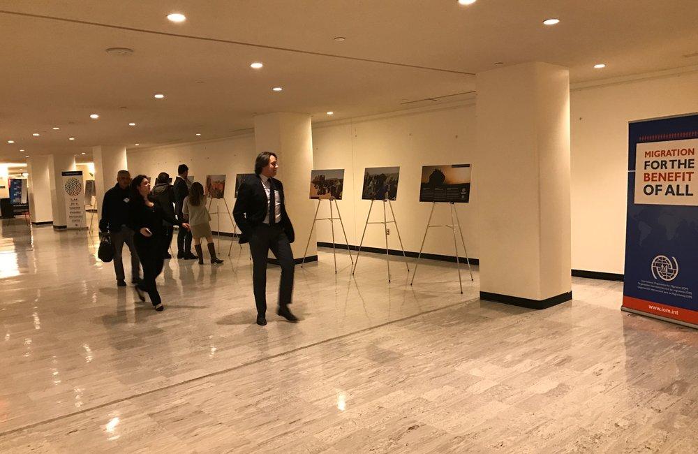 """معرض """"الهجرة لنفع الجميع"""" الذي أقامته منظمة الهجرة الدولية في مقر الأمم المتحدة بنيويورك"""